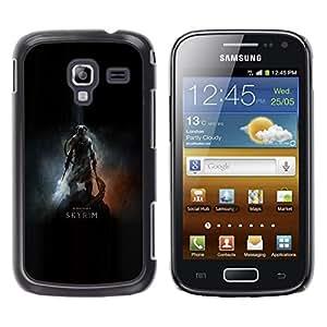 LECELL--Funda protectora / Cubierta / Piel For Samsung Galaxy Ace 2 -- Dracónido Cartel del guerrero --