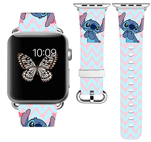Replacement Band Compatible with Apple Watch with adapters 42mm 44mm or 38mm 40mm iWatch Band Series 1 Series 2 Series 3 Series 4 Length S/M or M/L (42-44mm S/M)