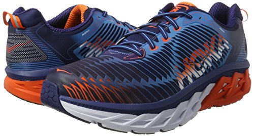 Hoka One M Arahi Calzado, Hombre medieval blue / red orange