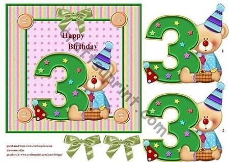 Feliz cumpleaños 3 años de payaso por Marijke Kok: Amazon.es ...