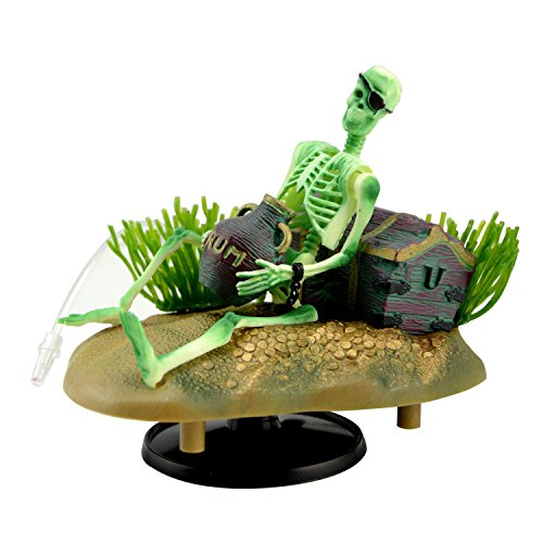 Saim Drunken Pirate Skeletons Live Action Aquarium Ornaments (Action Fish Aquarium)