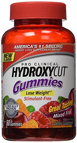 Pack of 1 x Hydroxycut Pro Clinical Weight Loss Gummies - Mixed Fruit - 60 count