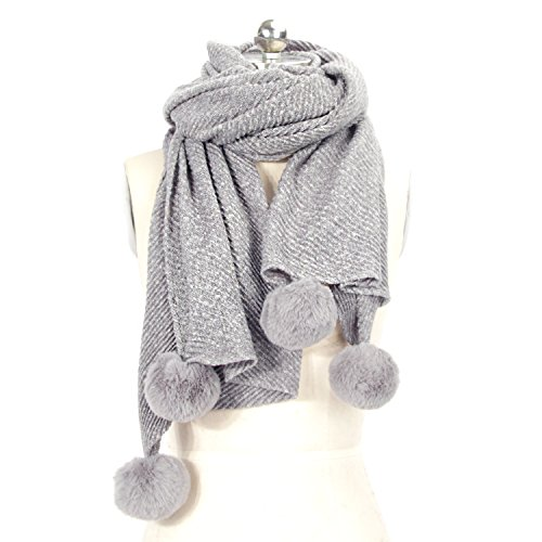 LOUISE&FIONA Plain Colors Cashmere Feel Long and Thick Wool Scarf Wrap Shawl