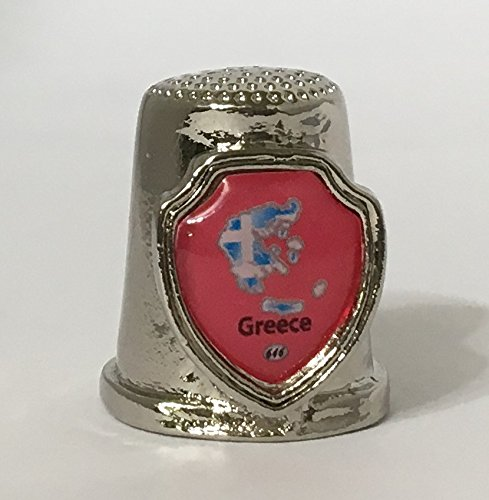 Country Greece Souvenir Thimble 646_em