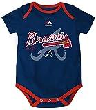 Atlanta Braves Majestic Infant Onesie Size 24 Months Bodysuit Creeper - Navy