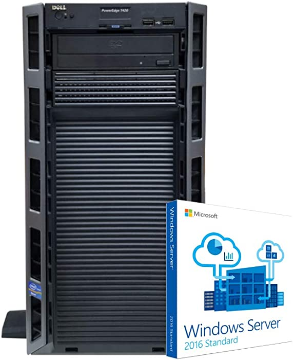 Dell PowerEdge T420 Tower Server with Operating System, 2 x 8 Core Intel Xeon 2.3GHz CPUs, 128GB RAM, 4TB SSDs, RAID (Renewed)