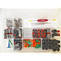 DEUTSCH DT CONNECTOR KIT GRAY OEM 662 Piece Kit SOLID TERMINALS + REMOVAL TOOLS, MALE & FEMALE. Order by 3PM EST shipped that day