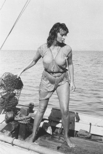 Sophia Loren Poster Boy On a Dolphin Wet Shirt