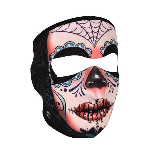 (Zanheadgear WNFL091 Neoprene Full Face Mask, Microfleece Lining, Sugar Skull)