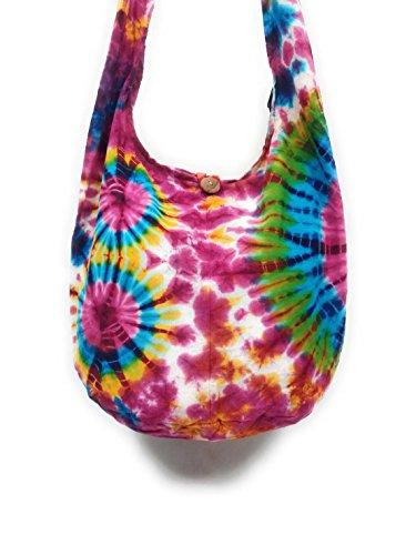 Kraft4Life Hobo Messenger Bohemian 006 Bag Boho Dye NEW Shoulder Tie Hippie Sling Crossbody rqwZFTIqn