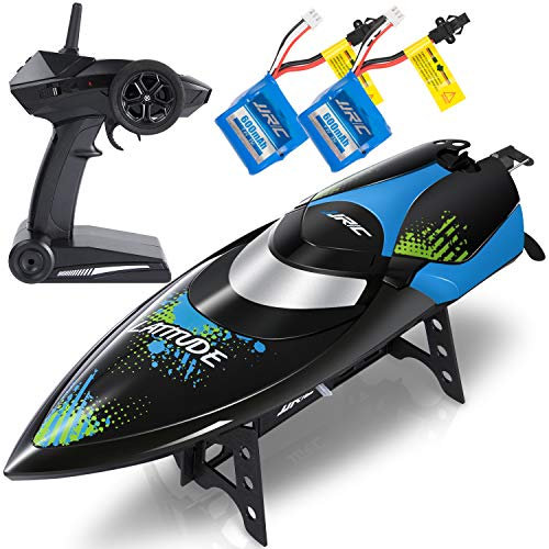 (ANTAPRCIS 25km/h RC Boat, 2.4GHz Race Boat for Pool and Lakes, 180 Degree Flipping High-Speed Fast Furious Remote Control Boat for Adults Kids,Black)
