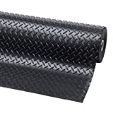Original Crillys 4m x 1.5m Wide Checker Plate Anti Slip Garage Floor Rubber Matting by Crillys