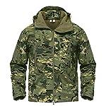 Armée Camouflage Veste Homme Manteau Veste Tactique Militaire d'hiver Randonnée Chasse Softshell Coupe-Vent 10