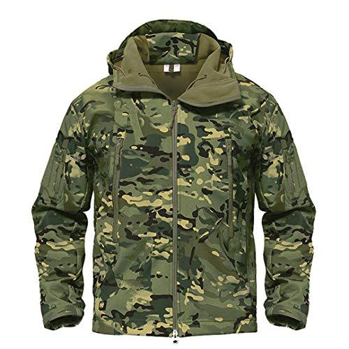 Armée Camouflage Veste Homme Manteau Veste Tactique Militaire d'hiver Randonnée Chasse Softshell Coupe-Vent 3