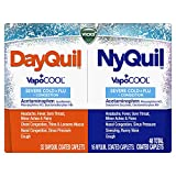 Vicks DayQuil & NyQuil SEVERE with Vicks VapoCOOL, Cough, Cold & Flu Relief, Sore Throat, Fever, & Congestion Relief, Day & Night Relief, 48 Caplets (32 DayQuil, 16 NyQuil)