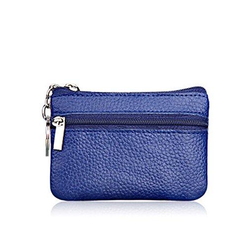 unidad sintética para 10X7cm mujer para multifuncional Bleu Monedero Negro Foncé sintética bolsa con mini 1 de Doitsa bolso Piel piel monedas cremallera pZTOq