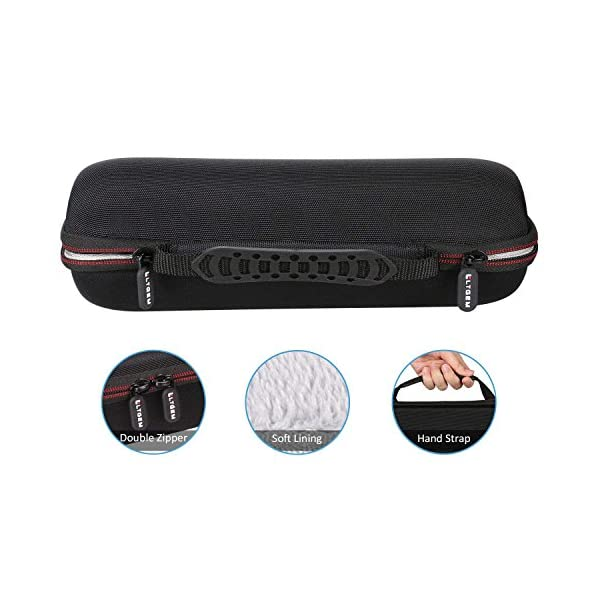 LTGEM EVA Étui rigide Sac de rangement de voyage pour Ultimate Ears UE BOOM 2 / UE BOOM 1 Haut-parleur portatif sans fil Bluetooth. Compatible avec câble USB et chargeur mural 5