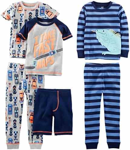 Simple Joys by Carter's Boys' 6-Piece Snug Fit Cotton Pajama Set