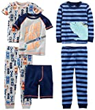 Simple Joys by Carter's Baby Boys' 6-Piece Snug Fit Cotton Pajama Set, Racer Cars/Iguana, 18 Months