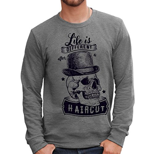 Mush Style Life A Skull By Scuro Is After Grigio Girocollo Dress Different Felpa Your HaircutVintage Barber N0XOPw8nk