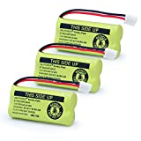 #1: XUNTU 2.4V Rechargeable Battery For AT&T and Vtech Phones BT18433 BT184342 BT28433 BT284342 BT-8300 BATT-6010 BT1011 BT1018 BT1022 BT1031 89-1326-00-00 /89-1330-01-00 / CPH-515D(Pack of 3)