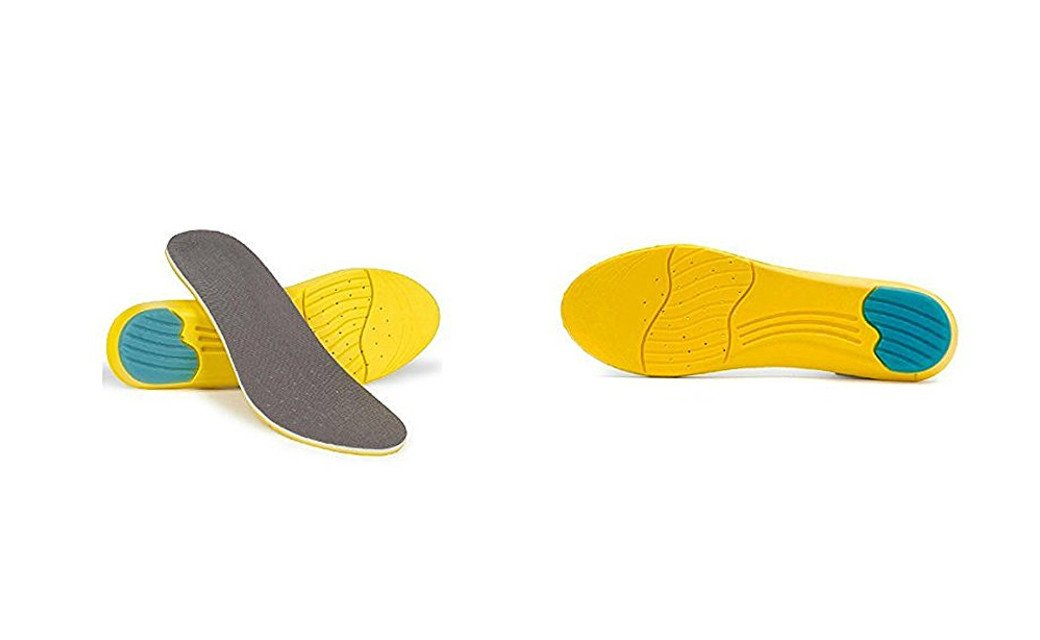 PU Health Pure Acoustics Breathable Unisex Dual Layer Foot Shock Absorbent Insoles