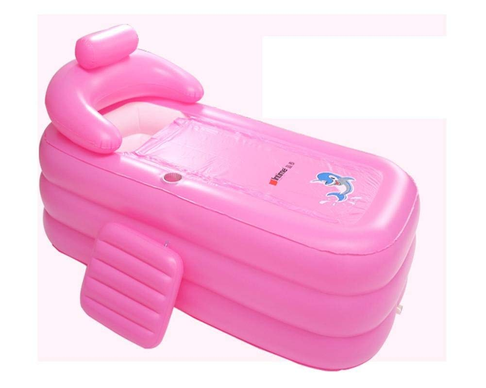 Bathtub, Pools Oversized Inflatable Massage Thickened Adult Adult Tub Swimming Pool Folding Barrel Pink, Pink, 160cm Bathtubs