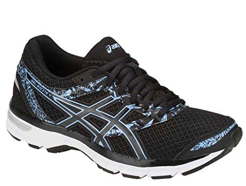 ASICS Women's Gel-Excite 4 Running Shoe, Black/Blue Bell, 7.5 M US