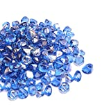 Mr. Fireglass 1/2″ Reflective Fire Glass Diamonds with Fireplace and Fire Pit, 10 lb, Cobalt Blue Review