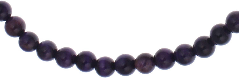 yvesse piedras preciosas collar de plata de ley 925con ojo de tigre Lila 45cm 200CT