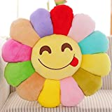 Vercart Cute Floor Carpet Bloom Soft and Cozy Flower Floor Cushion for Children Play on the Floor Multicolor 35 Inches