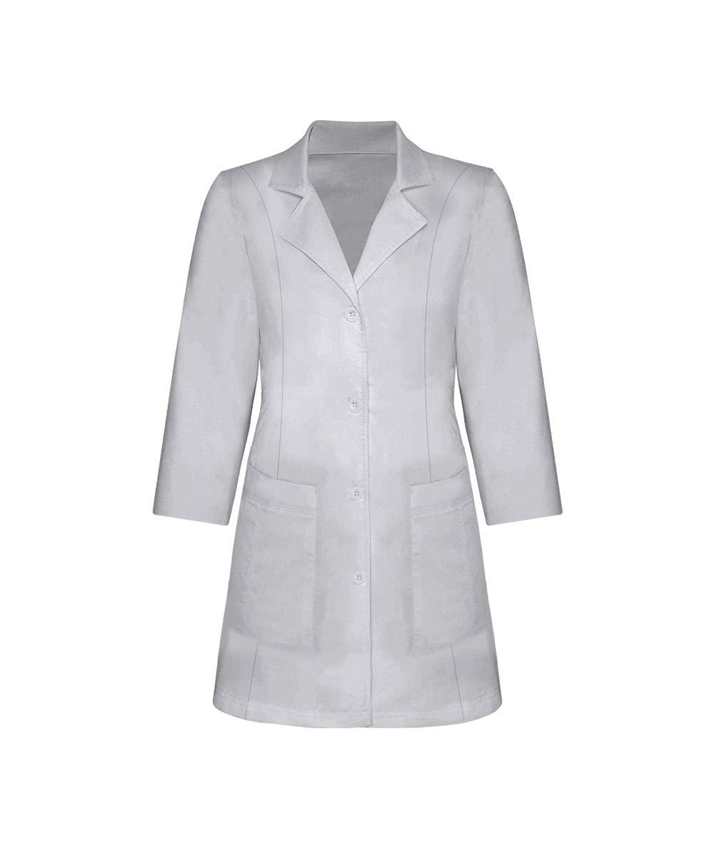Panda Uniform Custom Colored Lab Coat for Women 30 Inch length-Grey-M