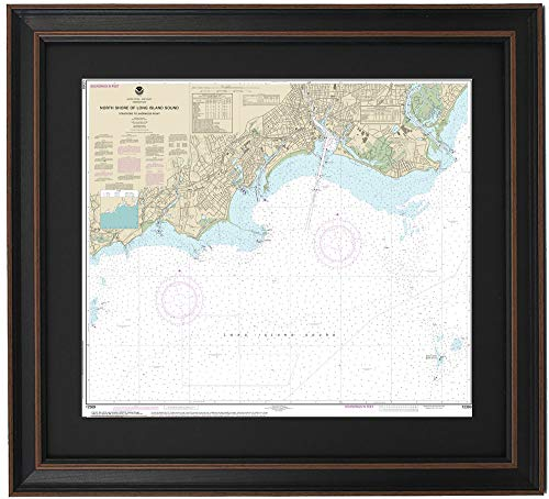 Patriot Gear Company | Framed Nautical Map 12369 : North Shore of Long Island Sound; Stratford to Sherwood Point- Poster Size