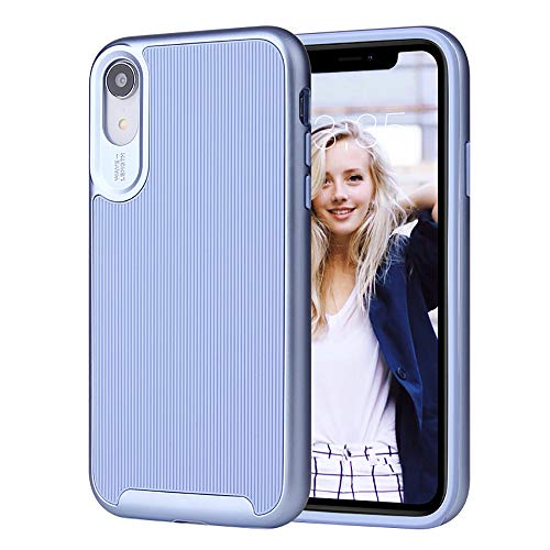 ROITON for iPhone XR Case, 2019 Newest iPhone XR Cover, Shockproof Dual Layer Anti-Scratch Hybrid Slim Full Body Protective Case with Soft TPU Cover & Durable Hard PC Shell for iPhone XR (Blue)