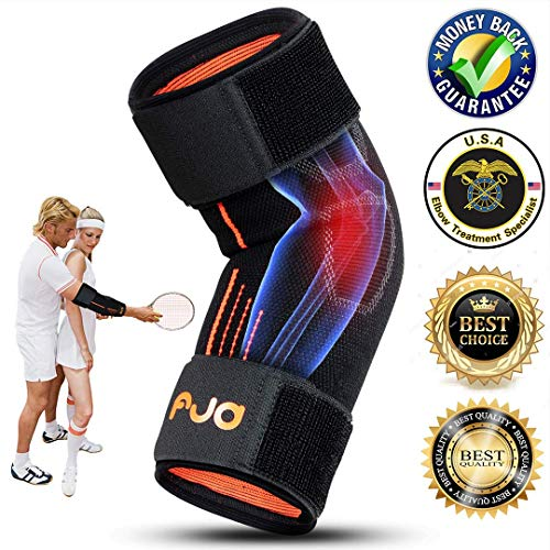 Tennis Elbow Brace Tendonitis Compression Sleeve Elbow Support Brace Tennis Elbow Strap Golfers Elbow Sleeve Recovery Adjustable for Men Women Weightlifting with pad