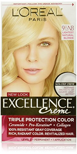 Hair Colorant Permanent (L'Oréal Paris Excellence Créme Permanent Hair Color, 9.5NB Lightest Natural Blonde)