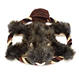 Grriggles Plush Fuzzy Flyers Dog Toy, Beaver, 8-Inch