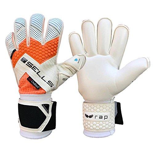 (Boys SELLS WRAP AQUA CAMPIONE JUNIOR 7 White Junior Goalkeeper Gloves White For Soccer)