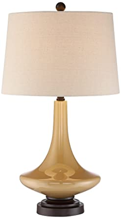 Leigh Mid Century Modern Glass Table Lamp Amazoncom