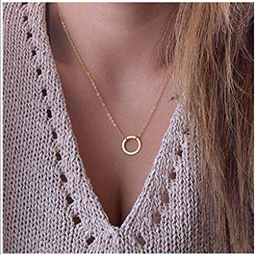 Yfe Gold Karma Necklace Jewelry Open Circle Necklaces for Women and Girls Simple Necklace Minimalist Choker (Gold Karma)