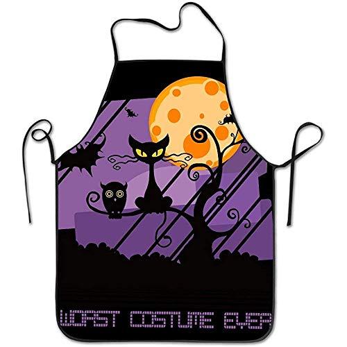 Xujian Xujian for Women Cute Apron Dress Men Cooking Apron Pinafore Worst Costume Ever Halloween Scared Black Cat Apron]()