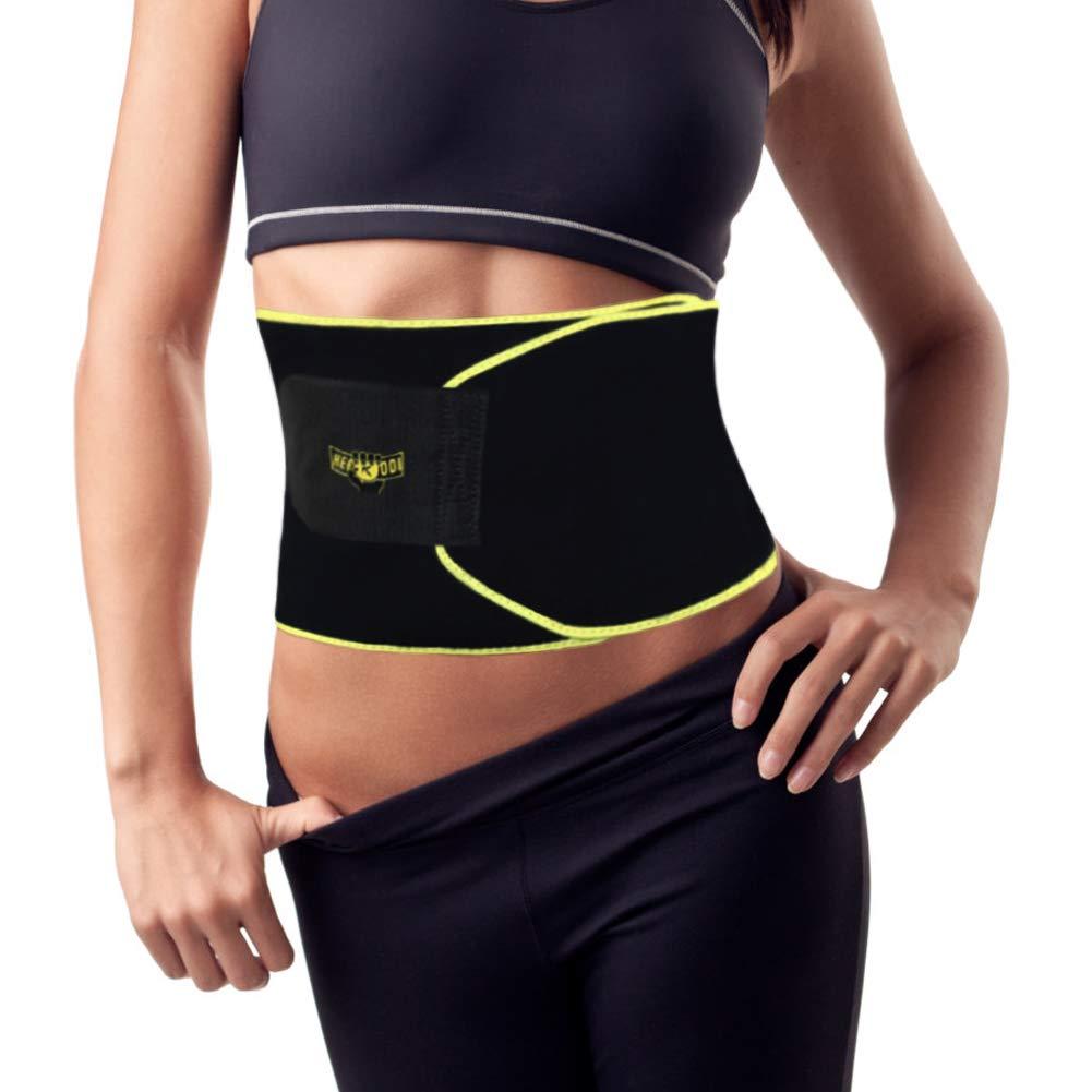 Heekooi Waist Trimmer Belt for Men and Women Waist Support Brace Ab Trainer Sweat Belt for Weight Loss