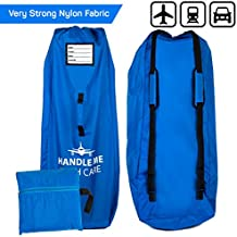 Travel Gate Check Bag For Airplane - Umbrella Stroller Size 45x12x16 600D Nylon Waterproof, Adjustable Shoulder Strap, Blue
