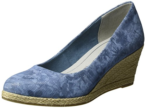 MARCO TOZZI premio WoMen 22446 Closed-Toe Pumps Blue (Denim Comb 853)