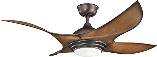 Kichler 300209OBB Contemporary Modern 52 Ceiling Fan from Shuriken Collection Dark Finish, Oil Brushed Bronze