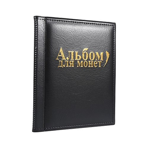 Haofy Álbum de Monedas para 250 Monedas Colección de Monedas Porta-Monedas de Álbum(Negro)