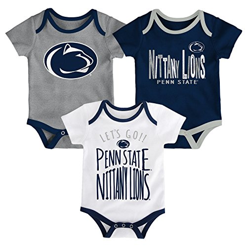 NCAA Penn State Nittany Lions Newborn & Infant Little Tailgater Bodysuit, 12 Months, Dark Navy by Gen 2