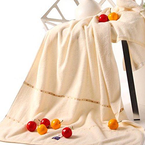Reine Baumwolle Qualität Farbe Mega Handtücher zu absorbieren Wasser nach Sommer dicke Frauen Paar intensivieren) Dicke, weiche 180*80 cm, M, Weiß