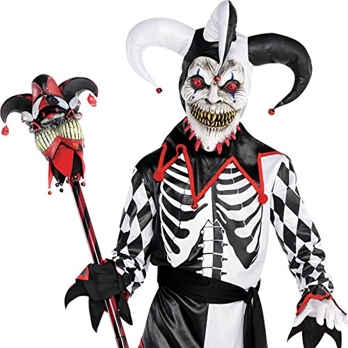 Scary Harlequin Costume (Sinister Jester Child Costume - X-Large)
