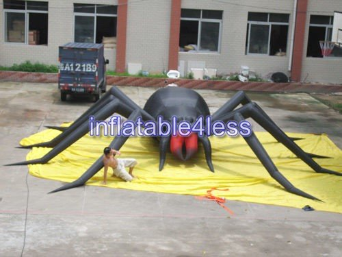 30' Inflatable (inflatable4less 30ft Inflatable Spider W/Fan Halloween Holiday Decoration Custom Made)